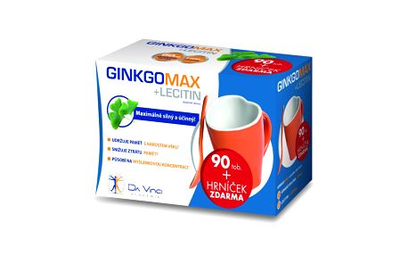 Simply you GinkgoMAX + Lecitin Da Vinci Academia tob.90 + Hrnek. Doplněk stravy, který pomáhá udržovat paměť.