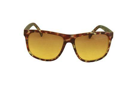 Hnědé army brýle No Limits se zelenými sklíčky