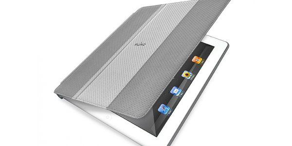 """Stylový obal italské značky Puro pro iPad 2, iPad 3. a 4. generace. Typ """"Booklet"""" z materiálu Eco-leather (eko-kůže) a s magnetickým zavíráním."""