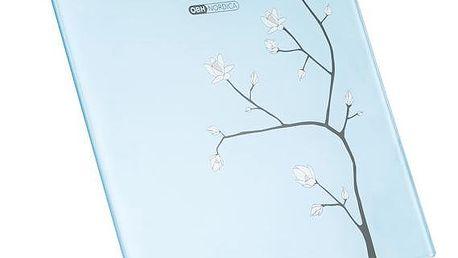 Osobní váha OBH NORDICA Art Collection Flower Glass 6277