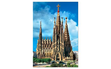 Puzzle EDUCA 1000 dílků - Sagrada Família r.2025, Barcelona