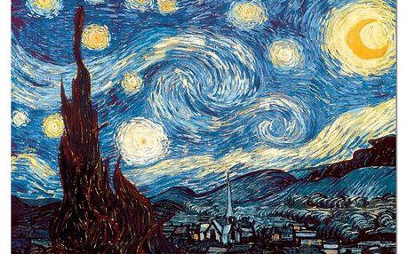 Puzzle EDUCA 1000 dílků - V. van Gogh, Hvězdná noc