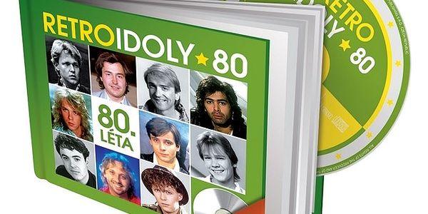 Retro Idoly 80. léta, CD a kniha - originální dárek