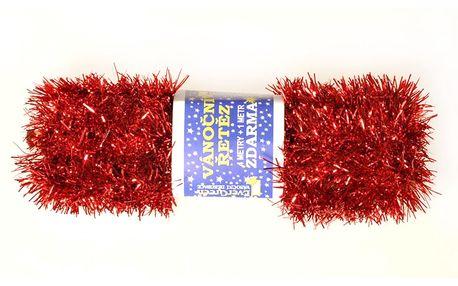 Řetěz červený, 500 cm, sada 2 ks, HTH