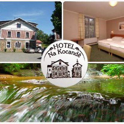 Vysočina od 430 Kč! 3 nebo 7 dní v útulném rodinném hotelu Na Kocandě!