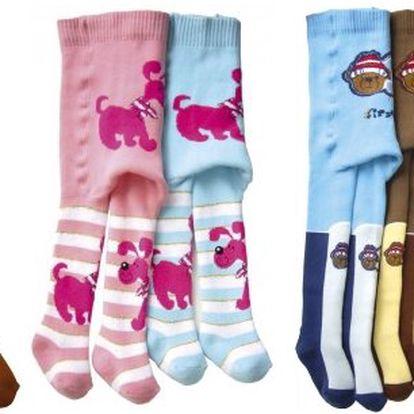 Dětské froté punčocháče pro kluky i holčičky v 10 barevných provedeních a vzorech + 4 velikosti! Od českého výrobce Novia! Netlačí na bříšku a jsou pružné!