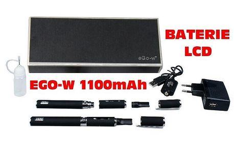 Elektronická cigareta eGo-W LCD 1100mAh, 2ks