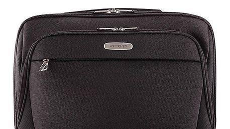 Černá taška na notebook Wittchen s popruhem