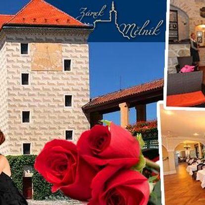 Valentýn, na který nezapomenete! Romantická 4-chodová valentýnská večeře na Zámku Mělník s klavírním doprovodem, degustací vín a prohlídkou zámku! Zažijte neopakovatelnou romantiku doplněnou elegancí a luxusem s vaší polovičkou!