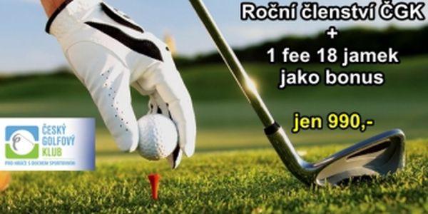 Nejlevnější golfové členství je tu...jen 990 Kč a získáte roční registraci v Českém golfovém klubu + federační kartičku na rok 2014 a fee 18 jamek jako bonus