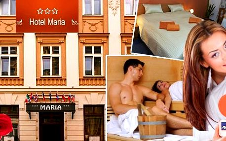 Valentýnský pobyt na 2 dny v hotelu Maria! Čeká vás večeře při svíčkách, snídaně formou švédských stolů, láhev vína na pokoji, finská sauna pro oba a další! Tento pobyt bude příjemným překvapením a romantickým zážitkem pro Vaši drahou polovičku!