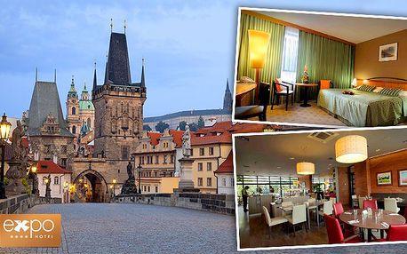 Noc pro 1 nebo 2 osoby v pražském hotelu Expo**** se snídaní