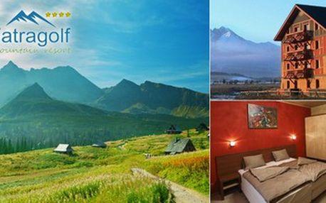 1820 Kč za 3-denní pobyt pro DVA v apartmánech Tatragolf Mountain Resort**** v Tatrách ve Veľké Lomnici. Aquapark Poprad a termální lázně v blízkosti!!