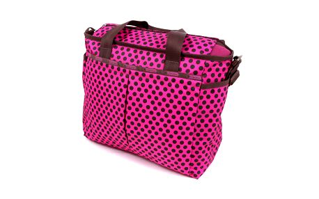 Ryan Baby Bag Truffle Dot