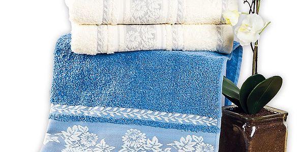 Bavlněné ručníky s romantickou bordurou