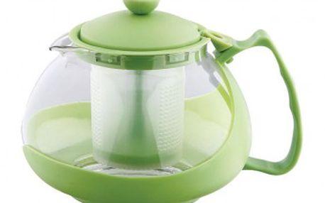 Konvice na čaj sklo plast 750 ml zelená RENBERG RB-3026zele