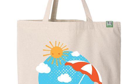 Bavlněná taška prázdniny světlá