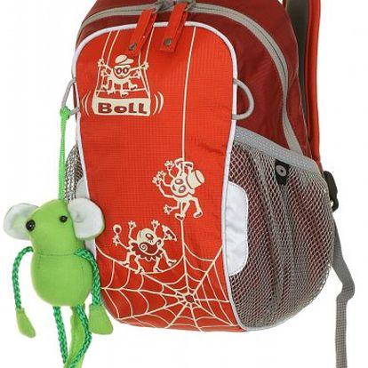 Osvědčený dětský batoh Boll Bunny (W11) chilli/cranberry s motivem pavoučků