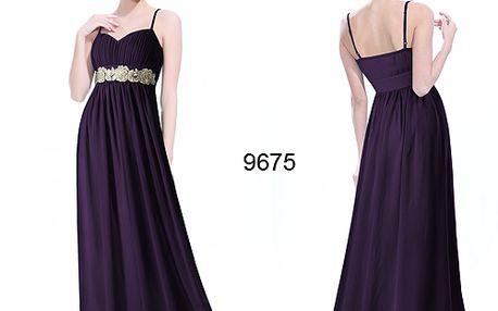 Nádherné fialové společenské plesové šaty