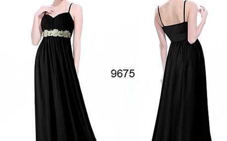 Úžasné dlouhé černé společenské plesové šaty
