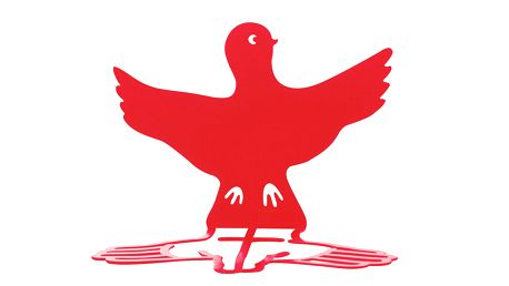 Zarážka na knihy Wingy, červená, 2 ks
