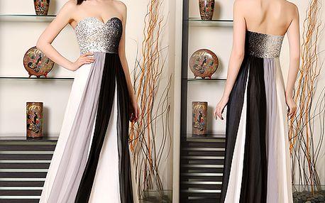 Dokonalé společenské šaty bez ramínek Ever-Pretty, vhodné na plesy, do tanečních i na jiné společenské události