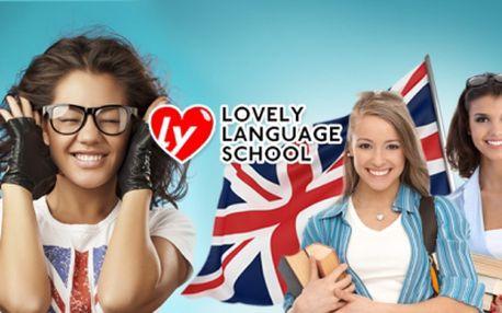 Jen 499 Kč za měsíční INTENZIVNÍ KURZ ANGLIČTINY 8x60 minut! Kurzy nabité KONVERZACÍ a GRAMATIKOU s profesionálním přístupem lektorů a přátelskou atmosférou! To vše Vám nabízí Lovely Language School!