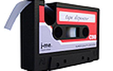 Designový stojánek na lepící pásku - J-ME Cassette, červený