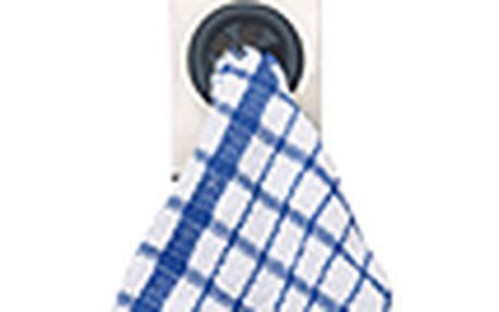 Samolepící klips na utěrky a ručníky - KITCHEN CRAFT Towel Holder, nerez/guma