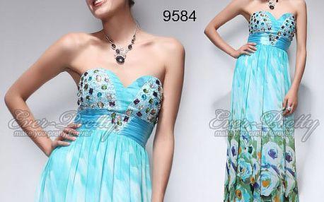 Vzorované plesové šaty