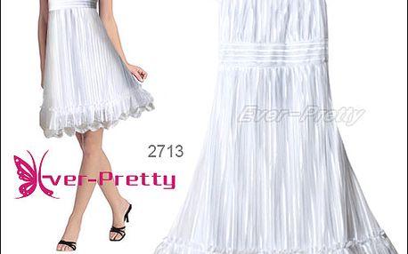 Elegantní bílé koktejlové šaty