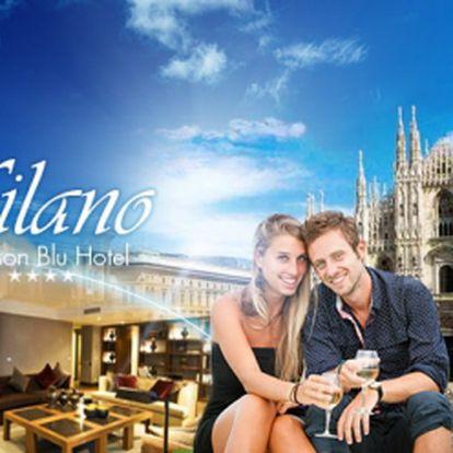 Poznejte Miláno, hlavní město módy a designu! 3DNY pro 2 os. v luxusním hotelu Radisson Blu**** v blízkosti historického centra města! Bohaté snídaně + volný vstup do wellenss zóny za báječných 4550 Kč! Platnost voucheru 1 ROK!