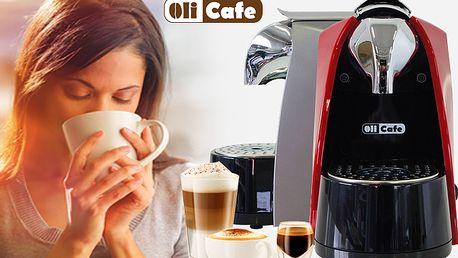 Kávovary Olicafe + 6 ks kapslí kávy v příchutích Arabico a Crema