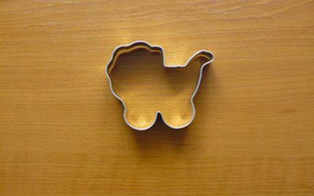 Vykrajovátko kočárek (z pocínovaného potravinářského plechu)