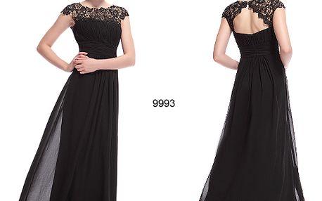 Černé elegantní společenské šaty