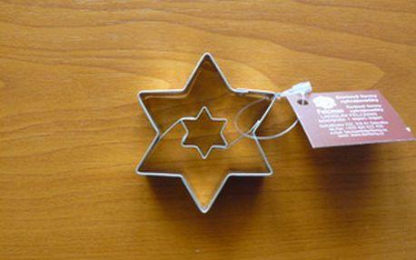 Vykrajovátko hvězda + hvězdička (z pocínovaného potravinářského plechu)