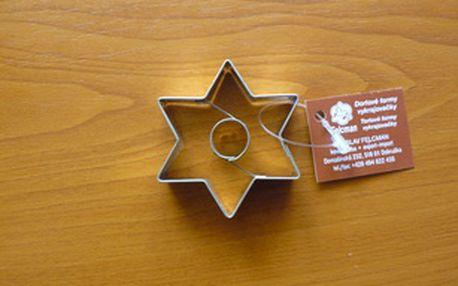 Vykrajovátko hvězda + kolečko (z pocínovaného potravinářského plechu)