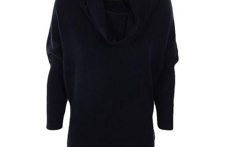 Dámský černý svetr s volným rolákem Nice Tricot