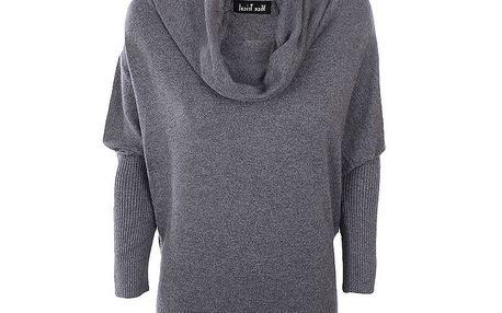 Dámský šedý svetr s volným rolákem Nice Tricot