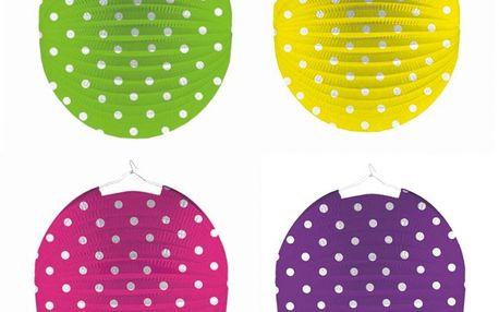 Lampion s puntíky (papírový)