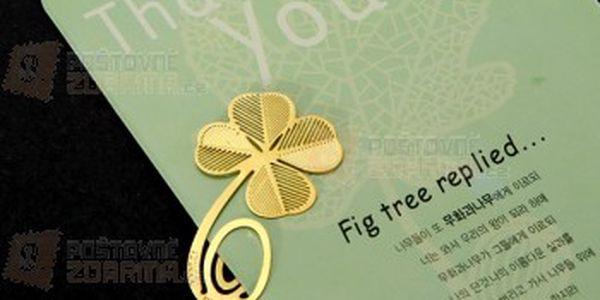 Záložka do knihy - čtyřlístek a poštovné ZDARMA! - 13009557