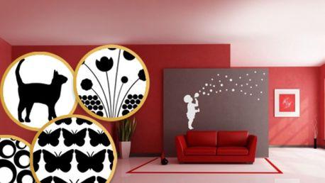 JEDINEČNÉ SAMOLEPÍCÍ DEKORACE nejen na stěnu VČETNĚ POŠTOVNÉHO za skvělých 289 Kč! Zkrášlete si svůj domov a dodejte Vašemu interiéru moderní vzhled! Vybírejte ze 6 různých motivů! Sleva 66%!