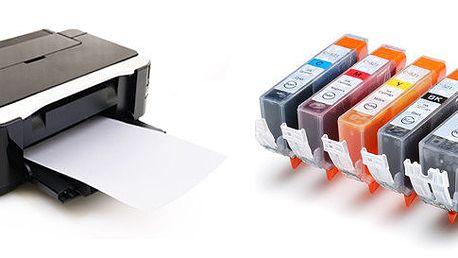 5 ks kompatibilních náplní PGI-520, CLI-521CMYK XL pro tiskárny Canon