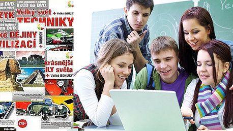 Sady DVD - Celá škola jednou ranou nebo Výpravy za poznáním včetně dopravy