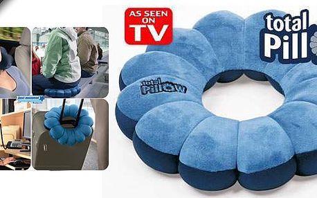 Zdravotní ergonomicky tvarovatelný polštářek Total Pillow vám pomůže udržet správnou pozici při sezení, ležení nebo opíraní. Univerzální polštářek je z příjemného mikrovlákna, náplň tvoří miliony kuliček