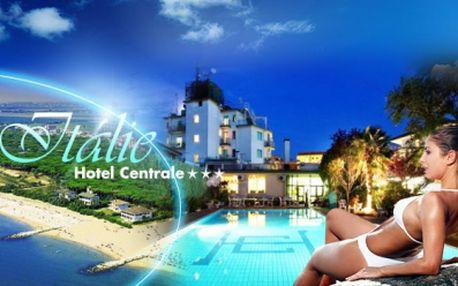 V červnu do Itálie! Šestidenní zájezd, hotel Centrale*** s WiFi a BAZÉNEM, jen 250m od písečné pláže, POLOPENZE, DOPRAVA a VÝLET do nádherných Benátek a Caorle, za pouhých 3999 Kč! Navíc dítě do 12 let zdarma!