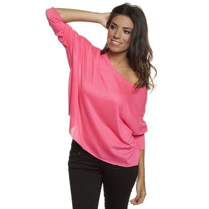 Dámské růžové volné tričko Blue Velvet (UNI)