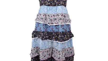 Dámské květinové volánkové šaty Dislay DY Design