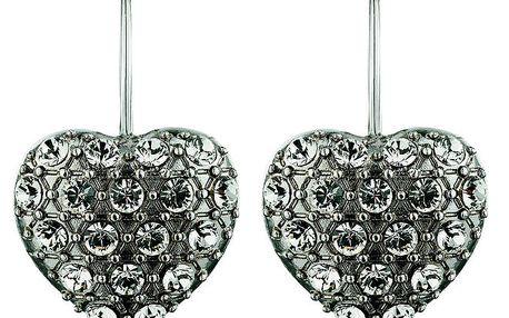 Dámské stříbrně tónované náušnice va tvaru srdce Dyrberg Kern