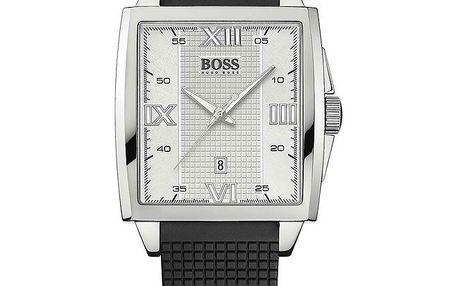 Unisexové hranaté stříbrné hodinky Hugo Boss Orange